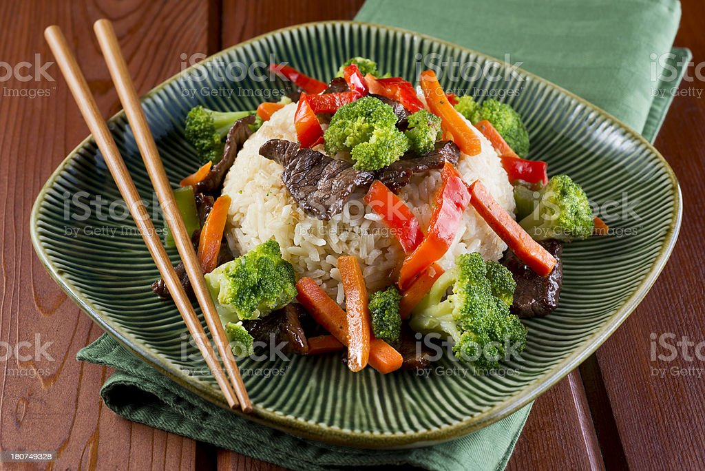 Beef Broccoli Stir Fry stock photo