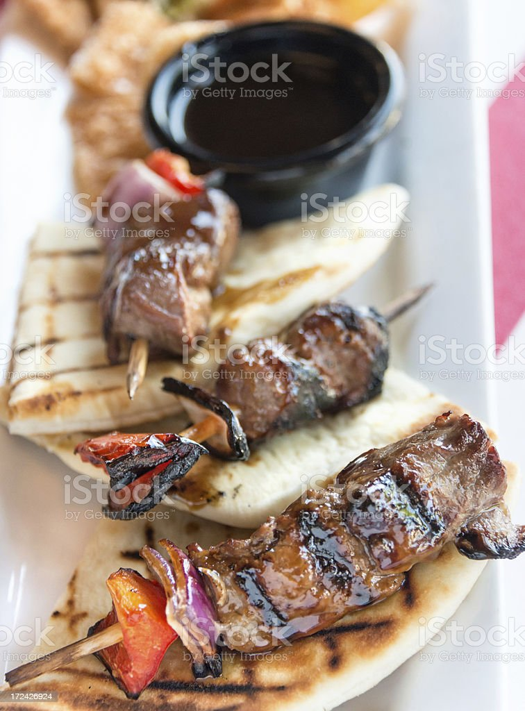 Beef brochettes royalty-free stock photo