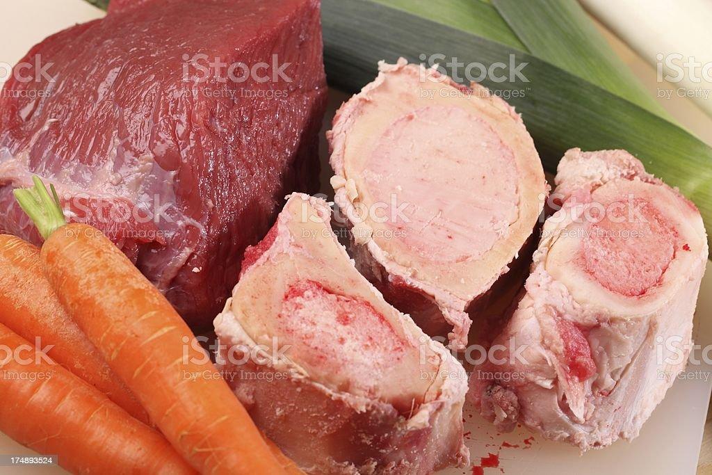 Beef broth ingredients stock photo