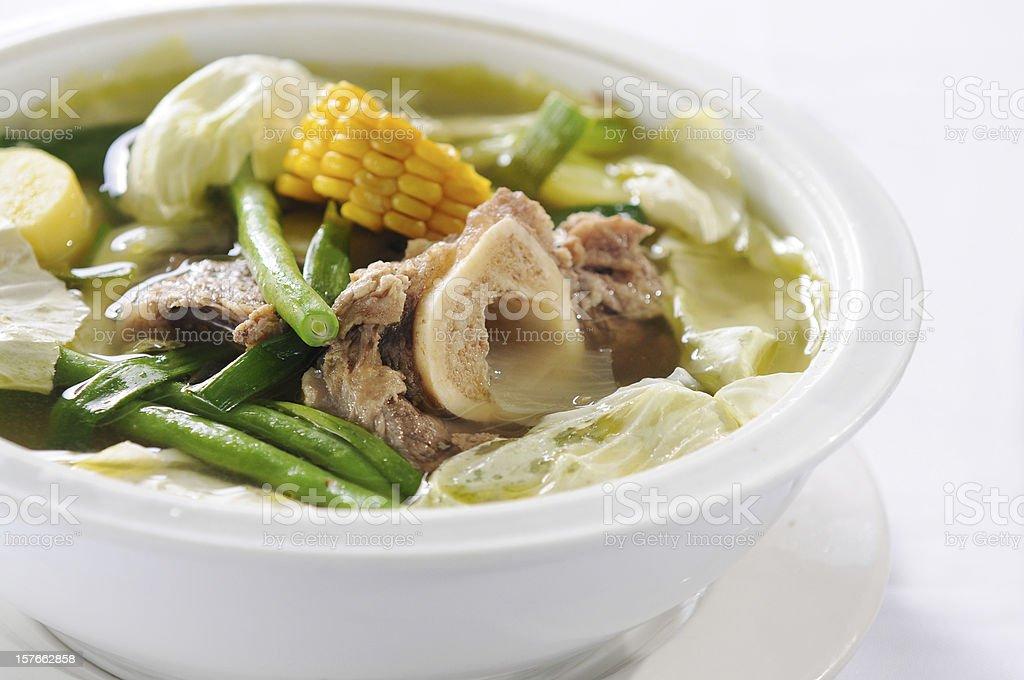 Beef bulalo soup stock photo