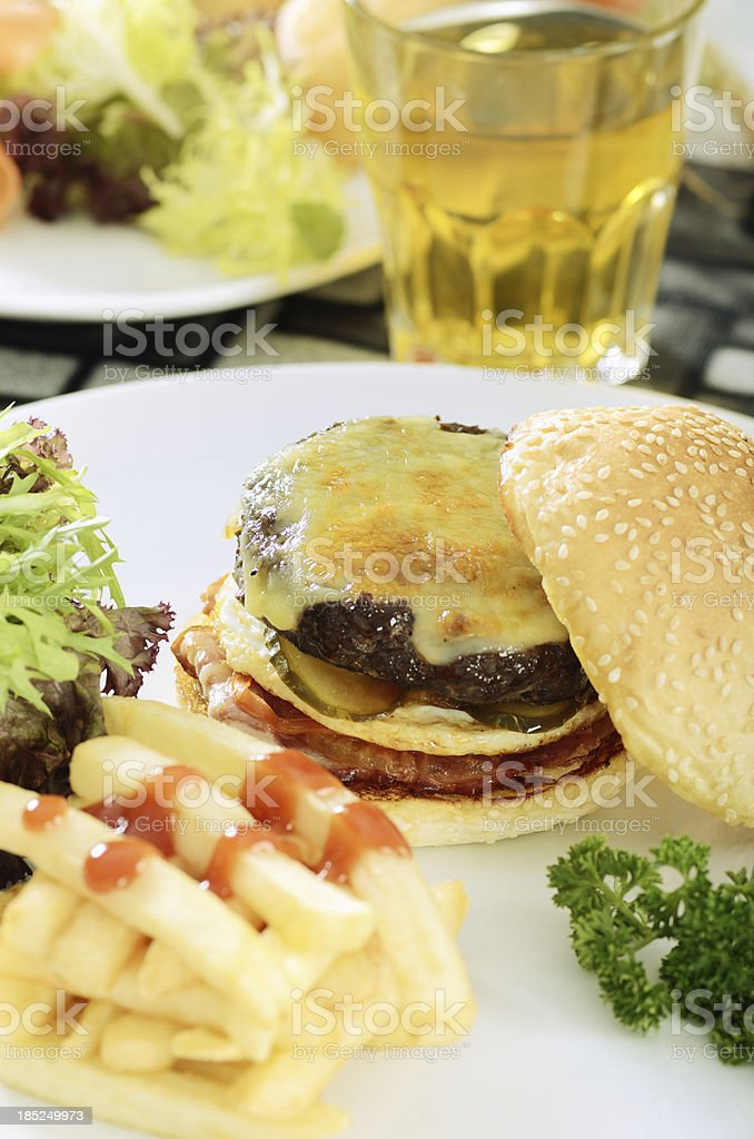 Beef Burger royalty-free stock photo