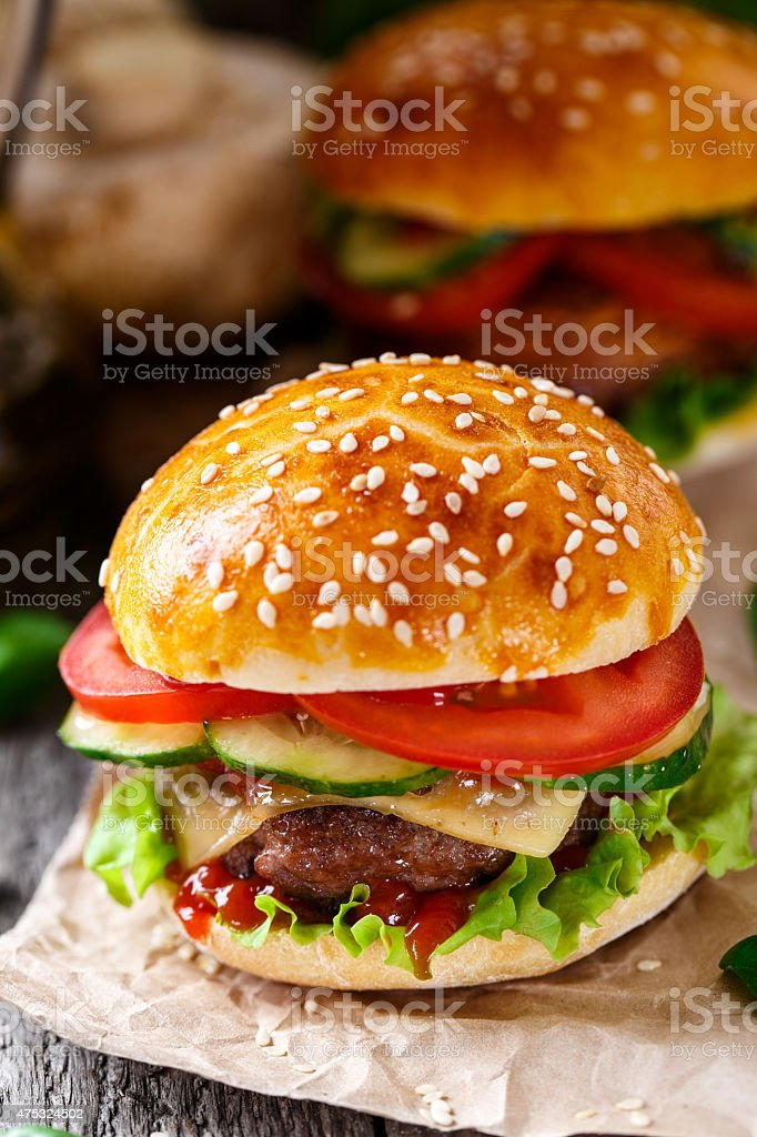 Beef burger stock photo