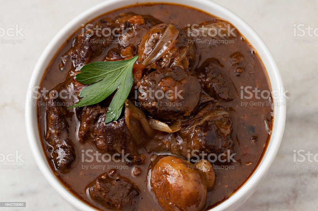 Boeuf Bourguignon stock photo