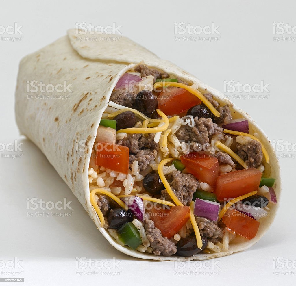 Beef Burrito stock photo