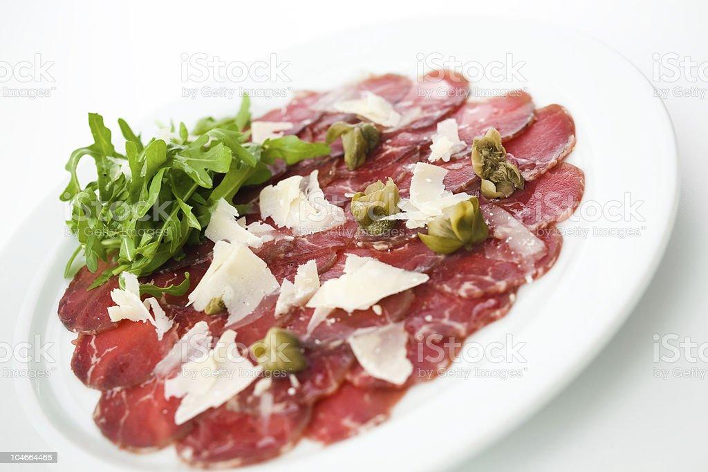 Beef Carpaccio royalty-free stock photo