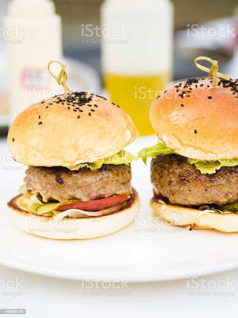 Beef Cheeseburger stock photo