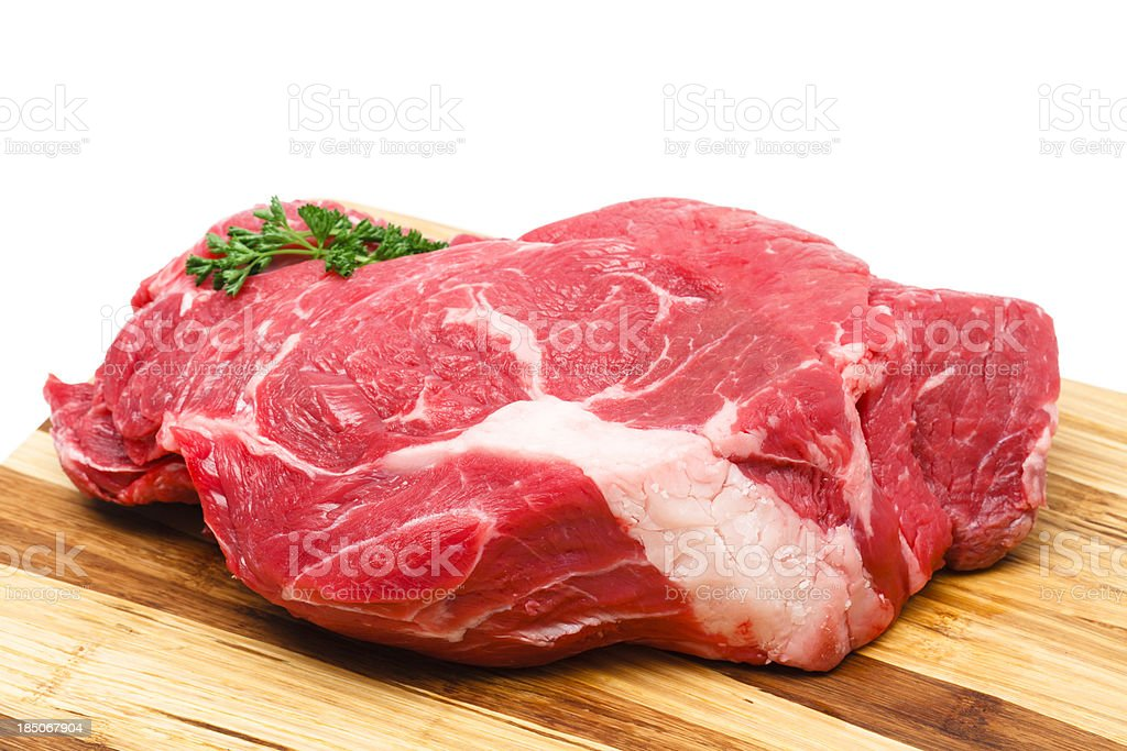 Beef Chuck Roast stock photo