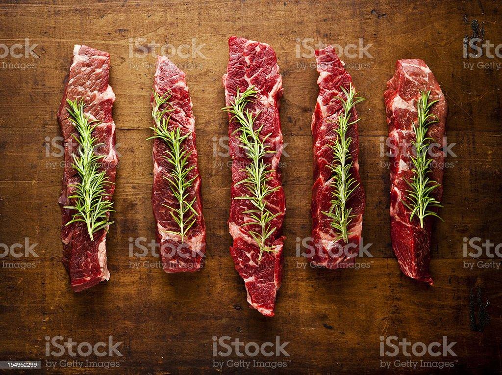 beef chuck short ribs boneless stock photo