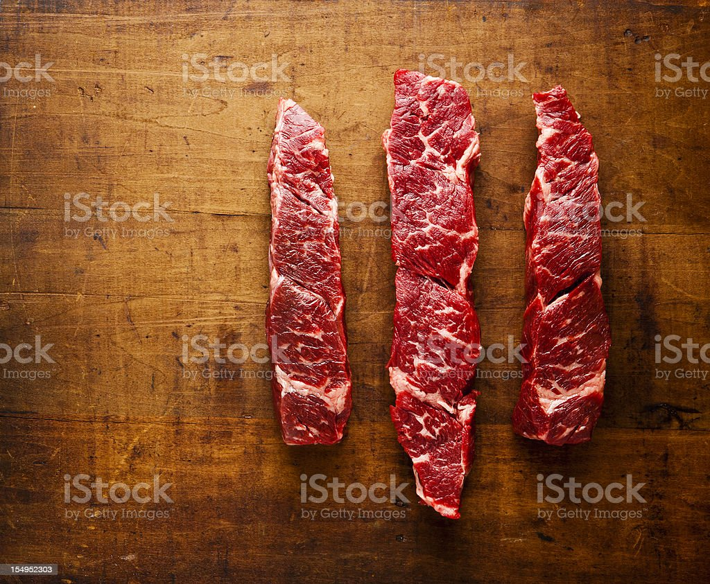 beef chuck short ribs boneless stock photo