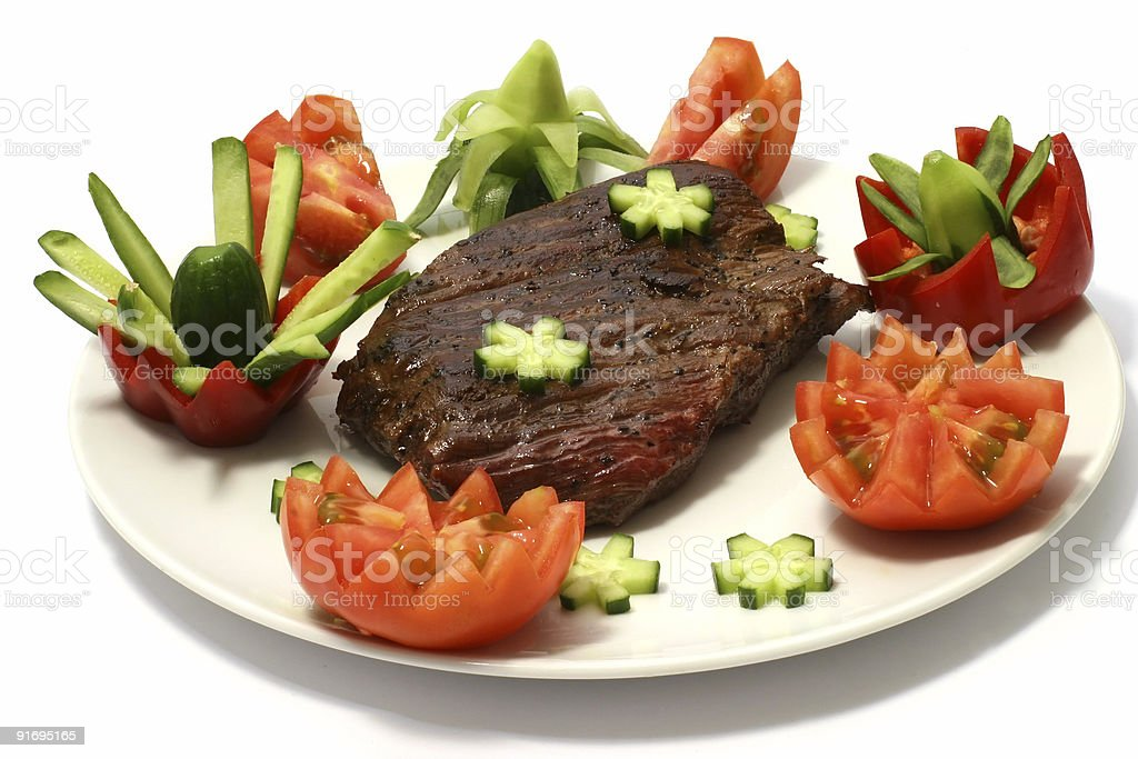 beef chunk and vegetables royalty-free stock photo