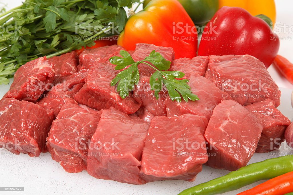 beef cubes royalty-free stock photo