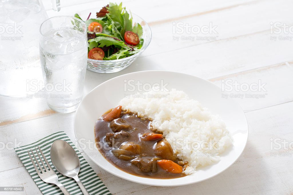 Beef curry stock photo