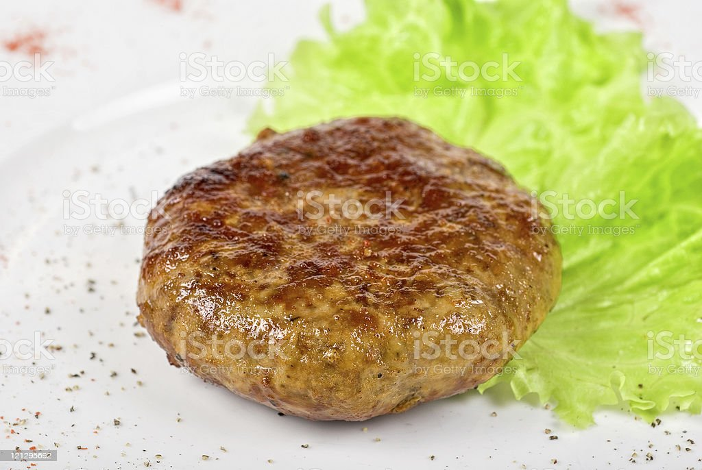 Beef cutlet royalty-free stock photo