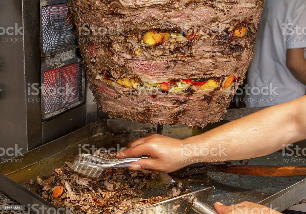 Beef Doner Kebab royalty-free stock photo