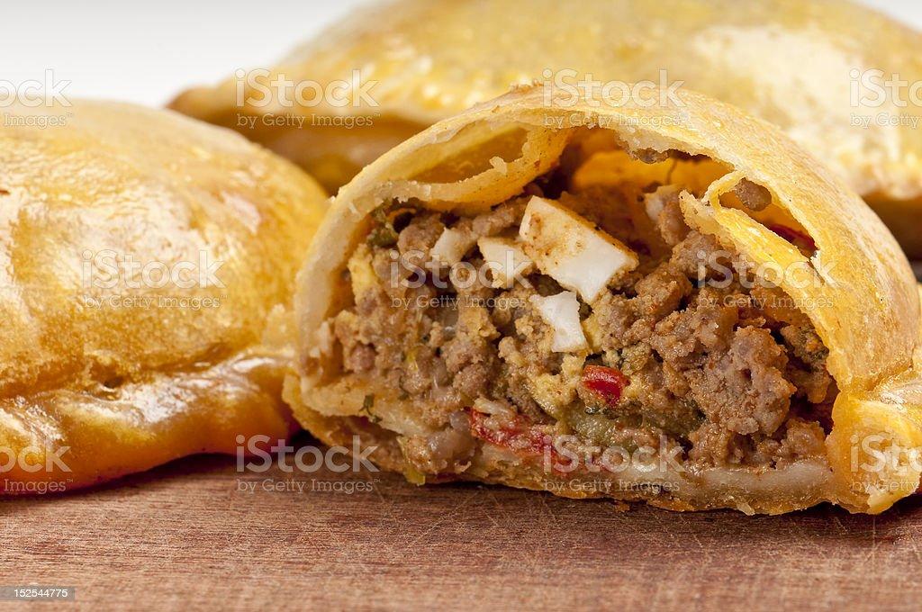 Beef empanada close-up stock photo