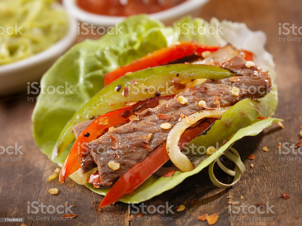 Beef Fajita Lettuce Wrap stock photo