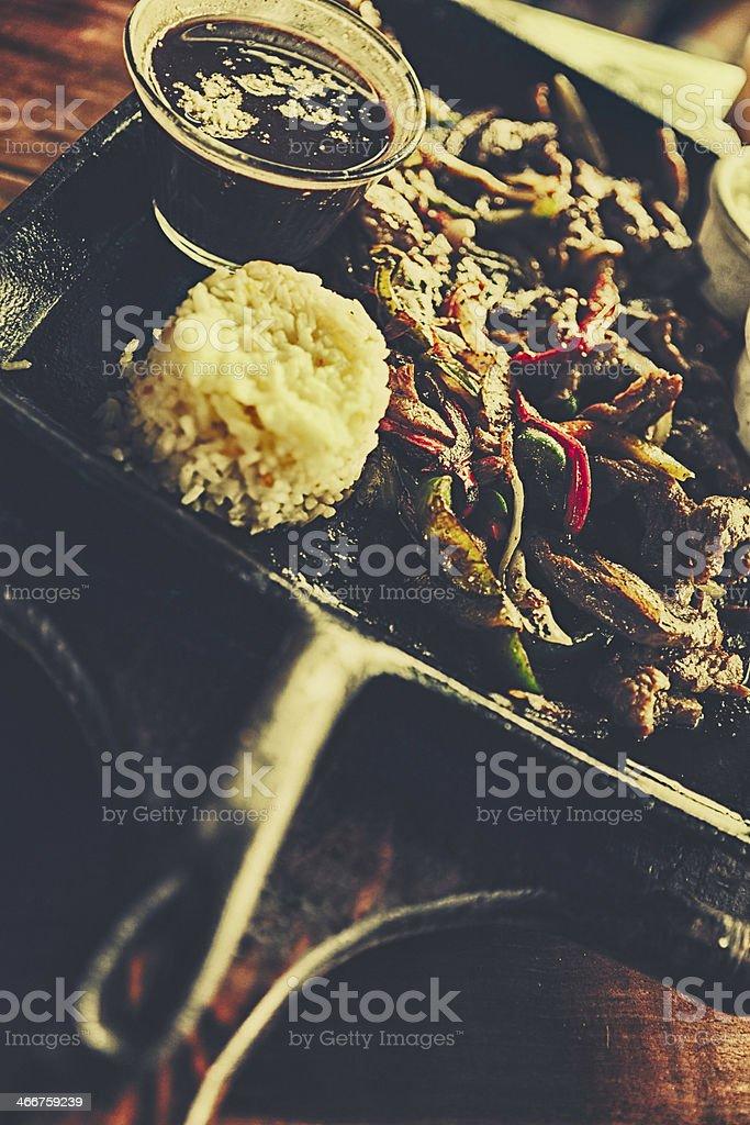 Beef Fajita stock photo