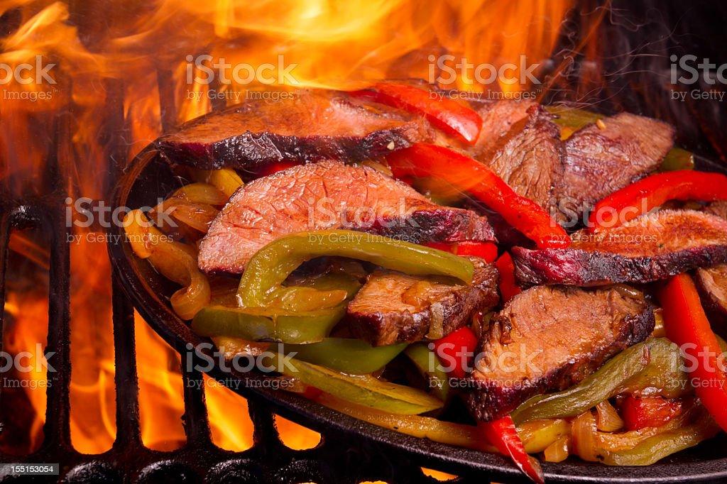 Beef Fajitas royalty-free stock photo