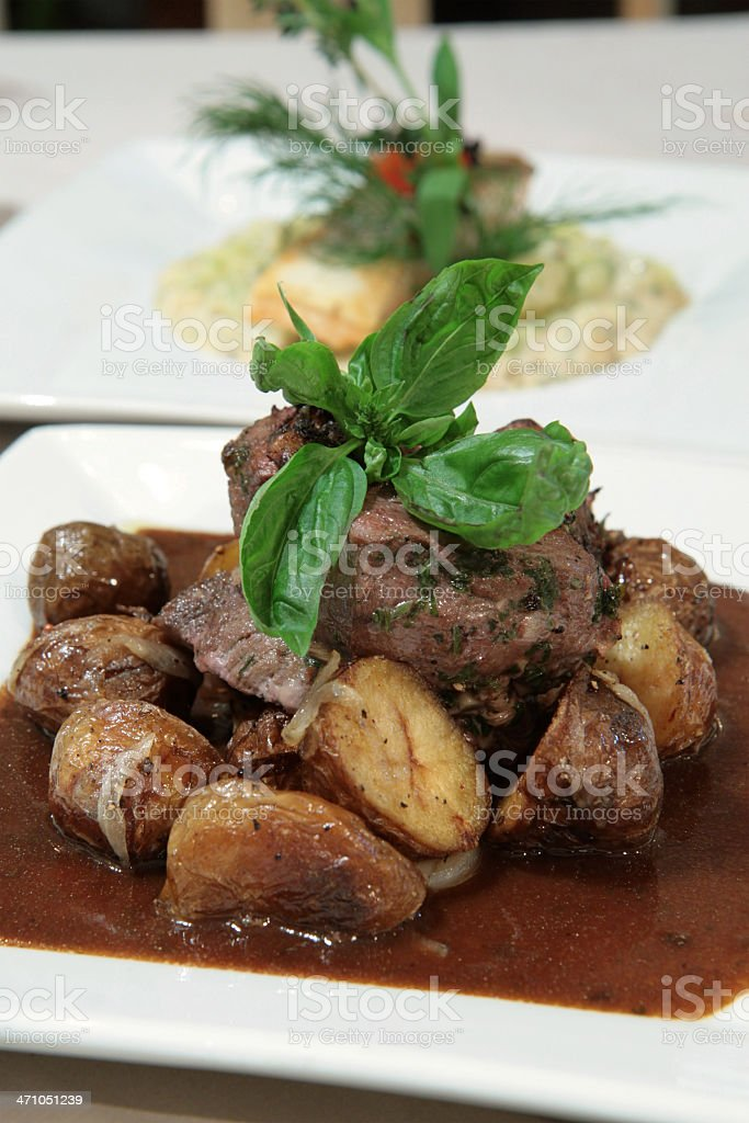 Beef fillet in black pepper sauce royalty-free stock photo