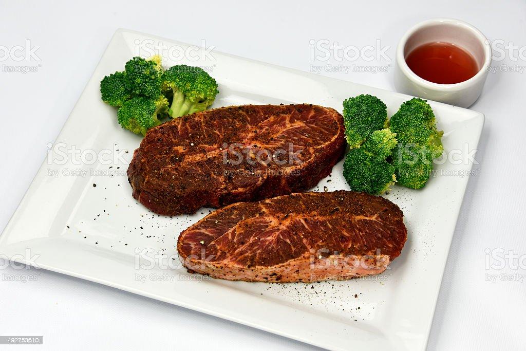 Beef Flat Iron Steak royalty-free stock photo