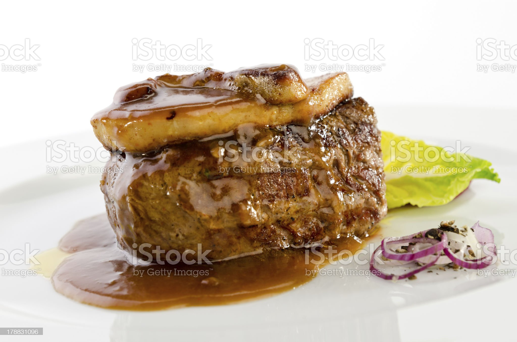 Beef foie gras royalty-free stock photo