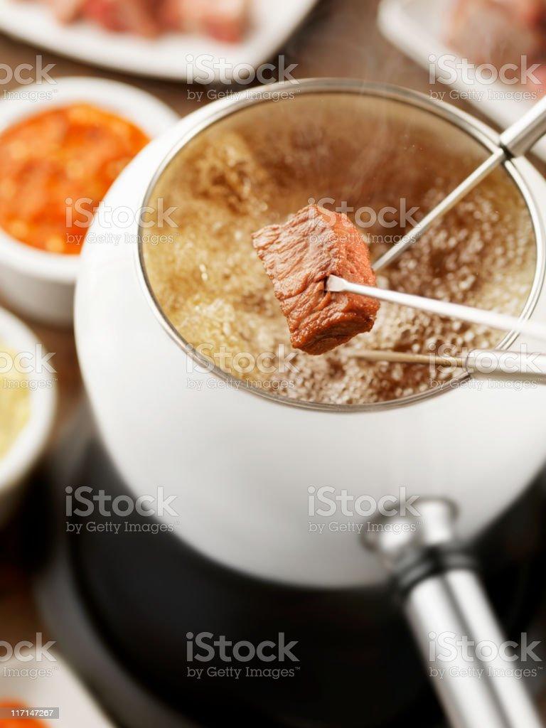 Beef Fondue stock photo