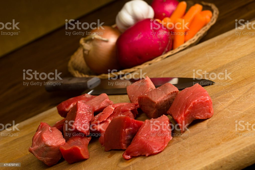Beef for Stew royalty-free stock photo