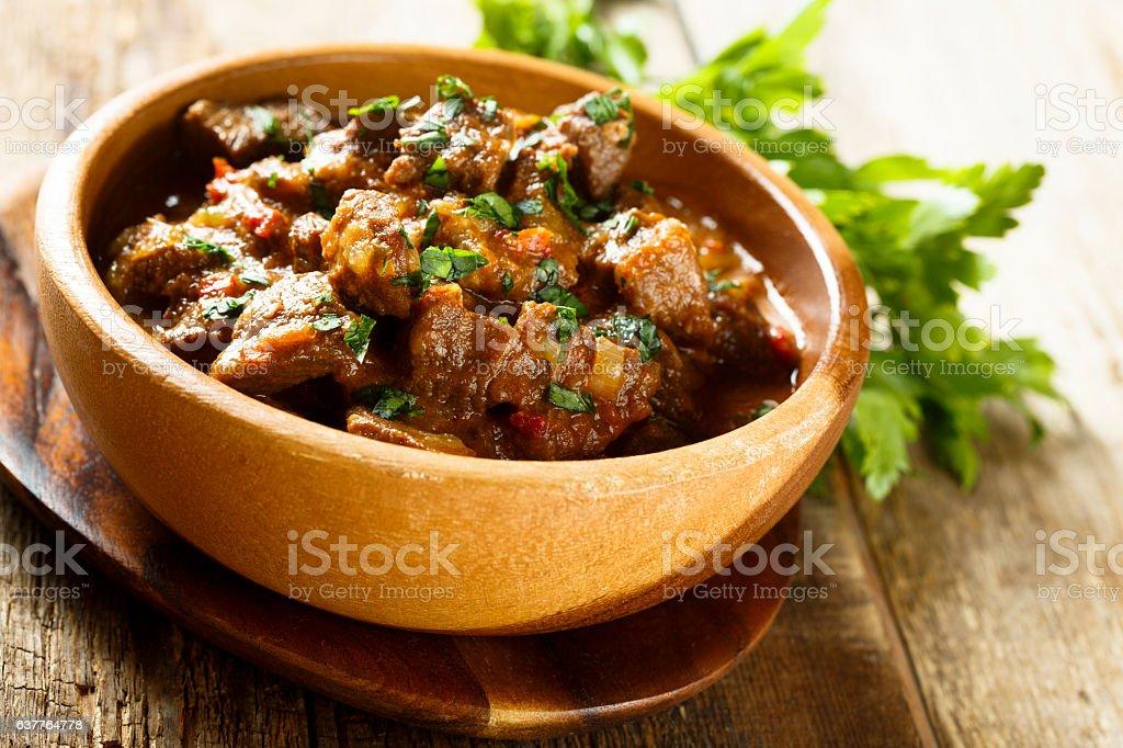 Beef goulash stock photo