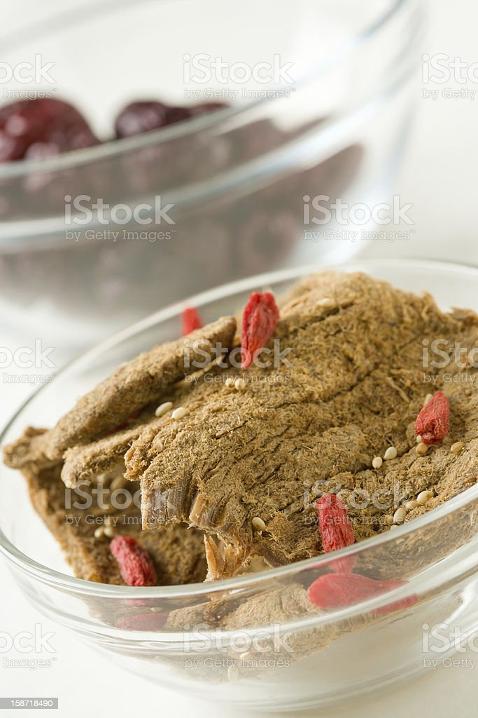 Beef in bowl royalty-free stock photo