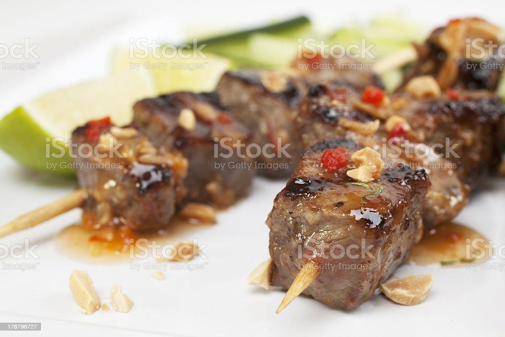 Beef Kebabs stock photo