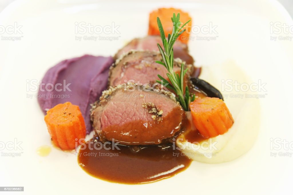 Beef loin. stock photo