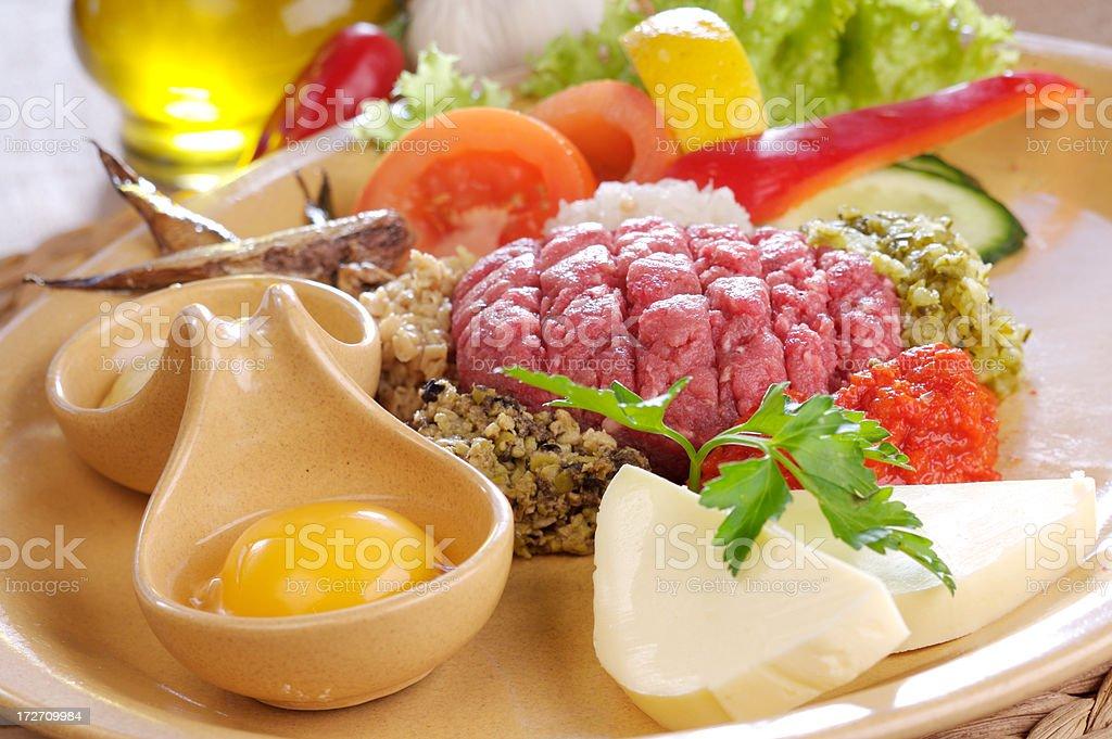 Beef loin tartare royalty-free stock photo