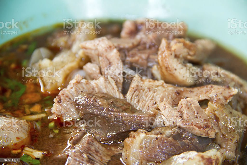 Beef noodle Thai style royalty-free stock photo