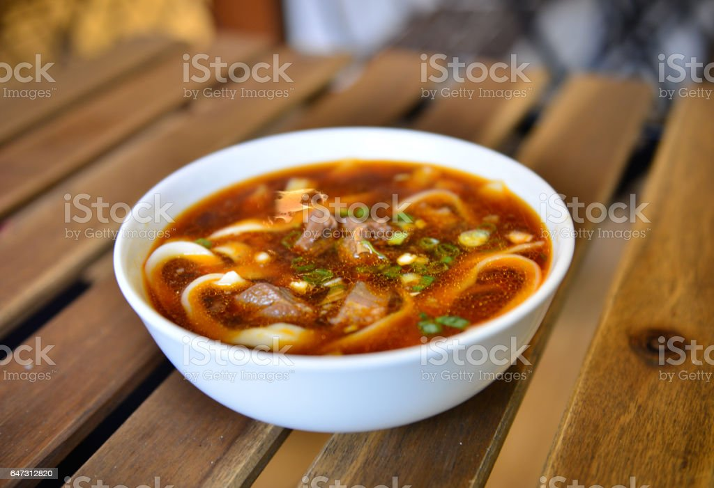 beef noodles stock photo