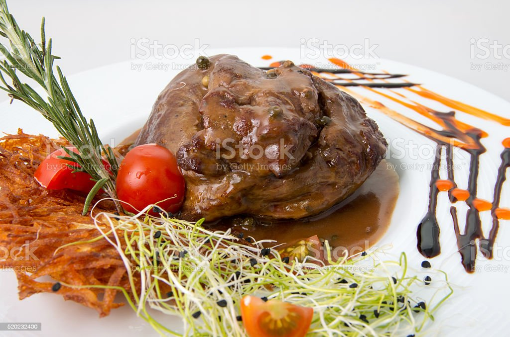 Beef pepper steak stock photo
