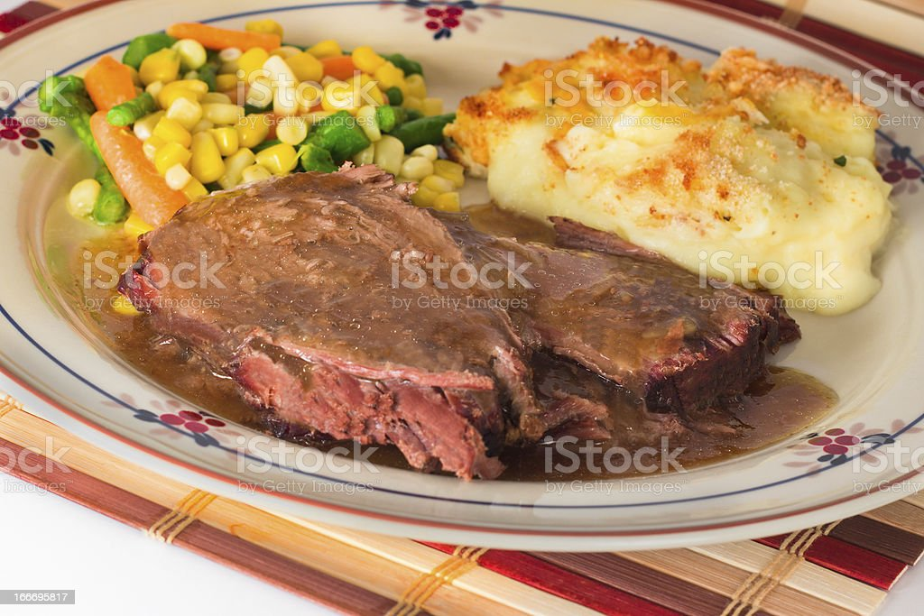 Beef Pot Roast Meal royalty-free stock photo