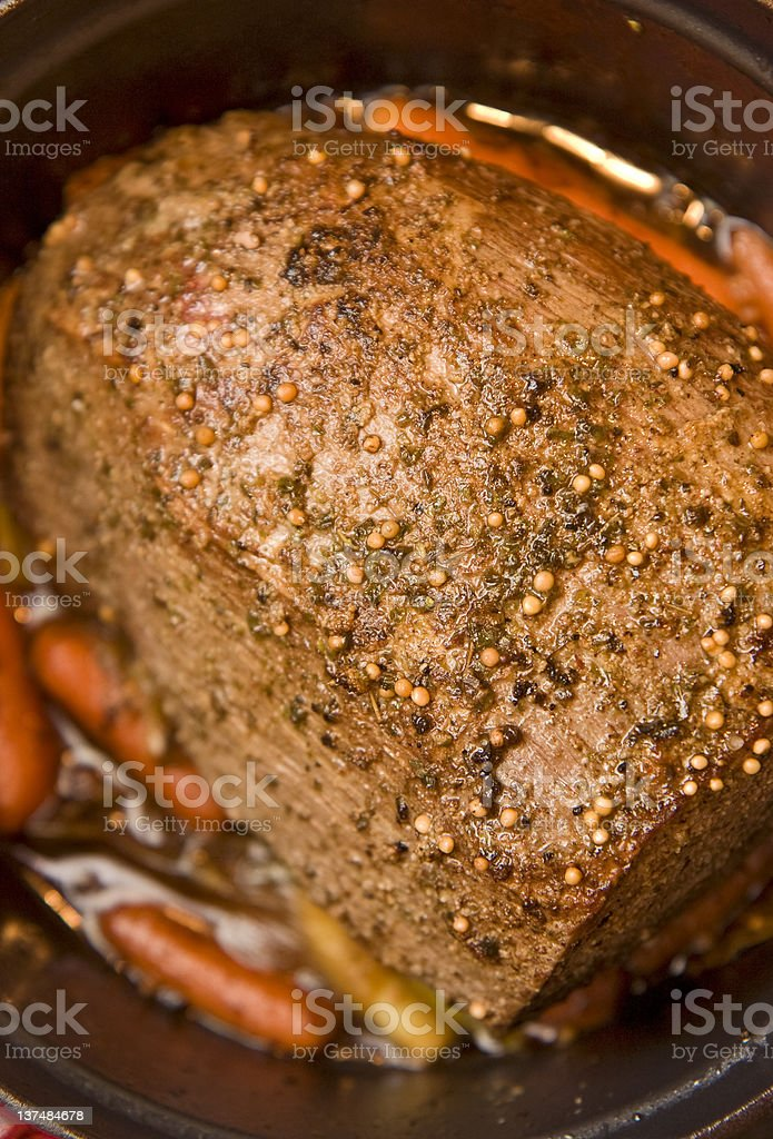Beef pot roast with carrots royalty-free stock photo
