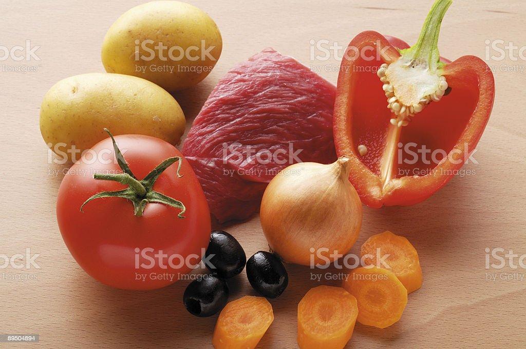 beef potato carrot pepper tomato onion royalty-free stock photo