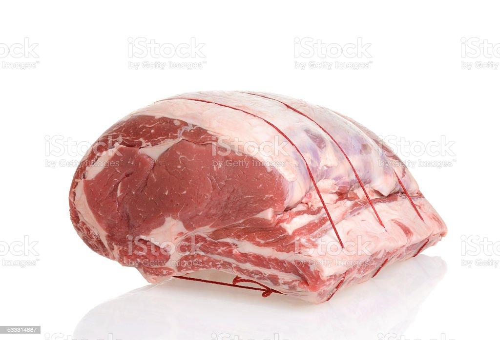 beef prime rib roast stock photo