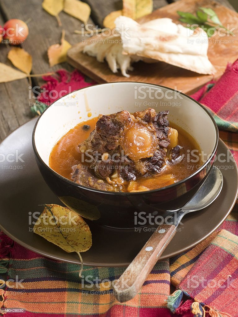 Beef ragout (osso bucco) royalty-free stock photo