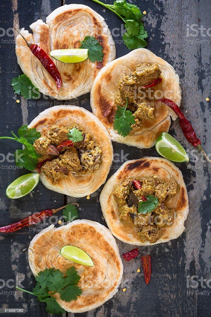 Beef rendang, indonesian food stock photo