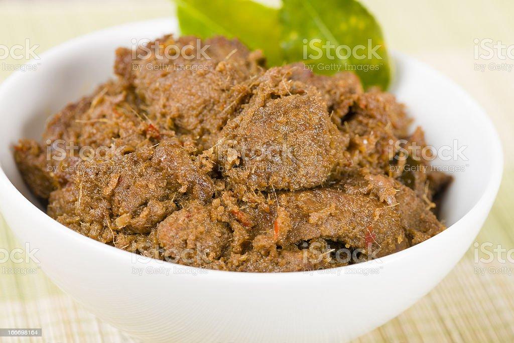 Beef Rendang stock photo