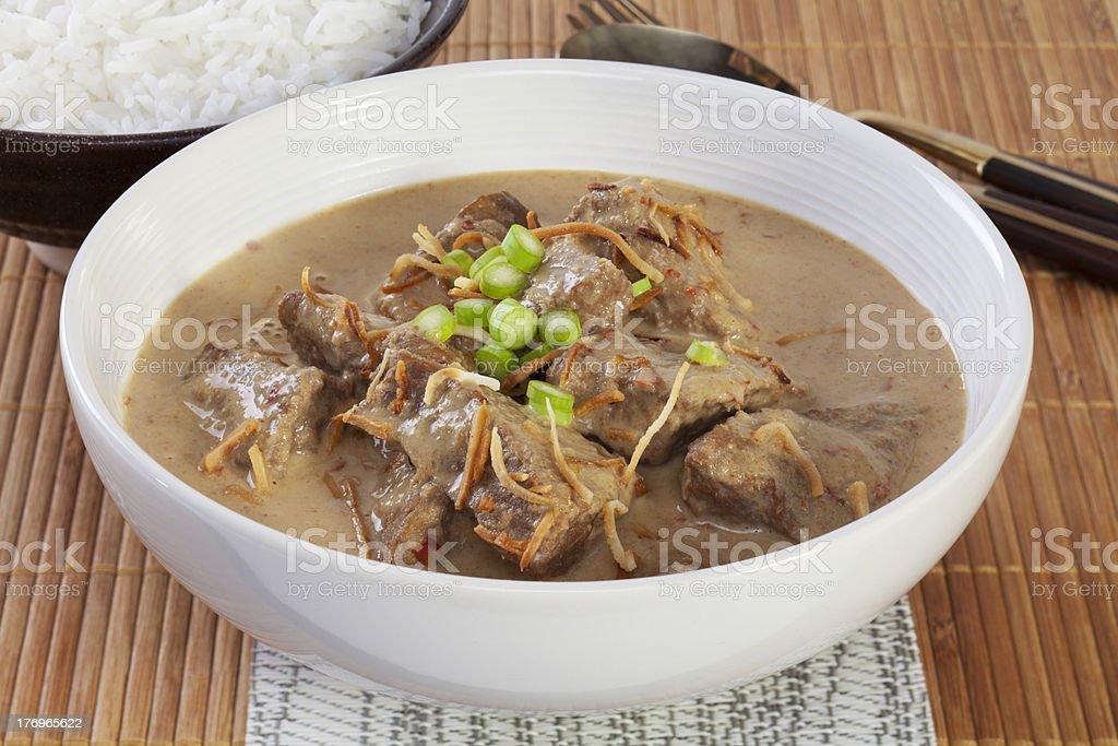Beef Rendang royalty-free stock photo
