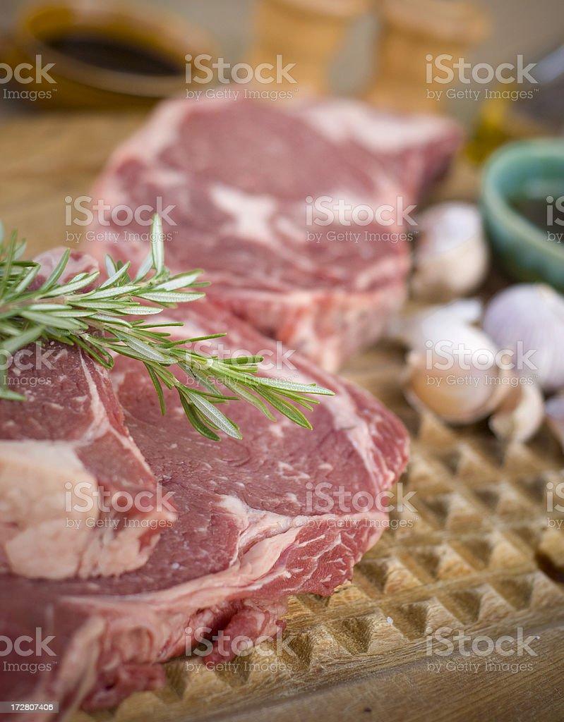 Beef Rib Eye Steaks royalty-free stock photo