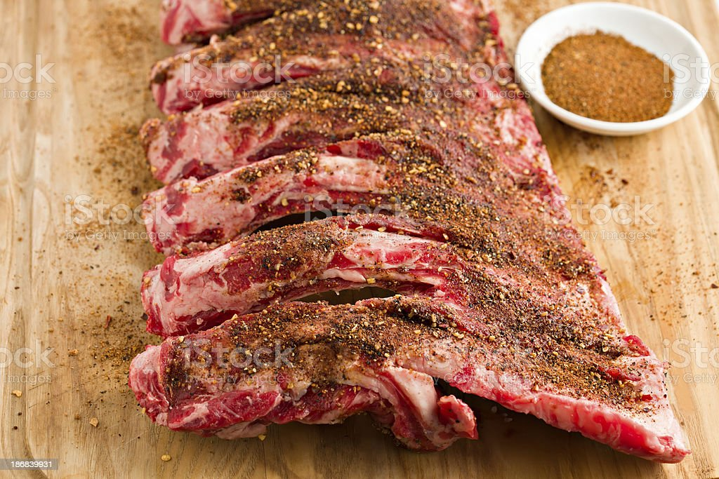 Beef Ribs And Dry Rub stock photo