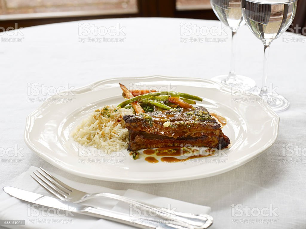 Beef ribs stock photo