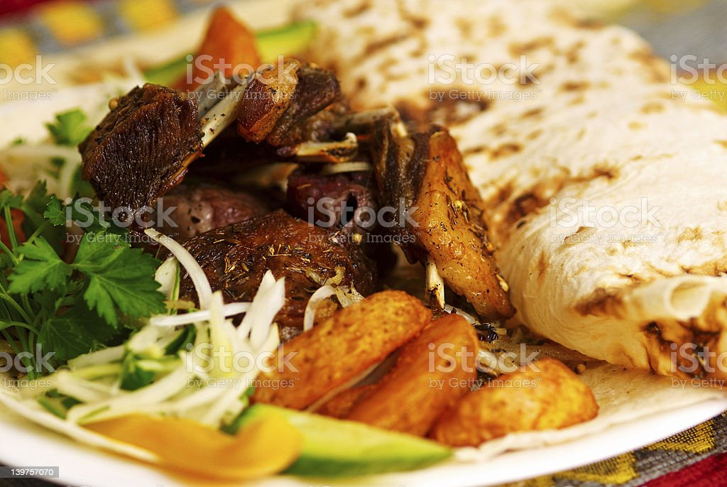 Beef ribs with potatoes royalty-free stock photo