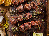 BBQ Beef Rosemary Skewers