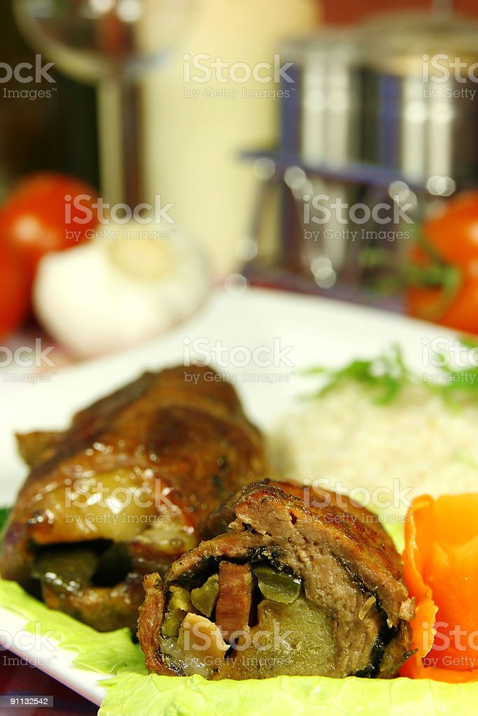beef roulades stock photo