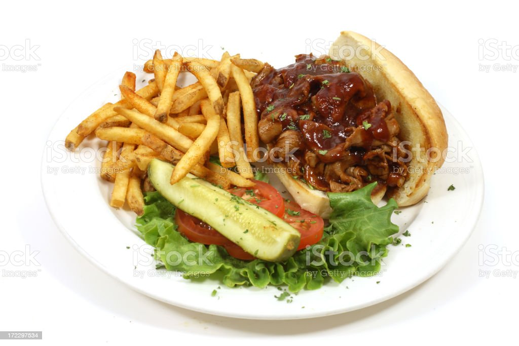 BBQ Beef Sandwich royalty-free stock photo